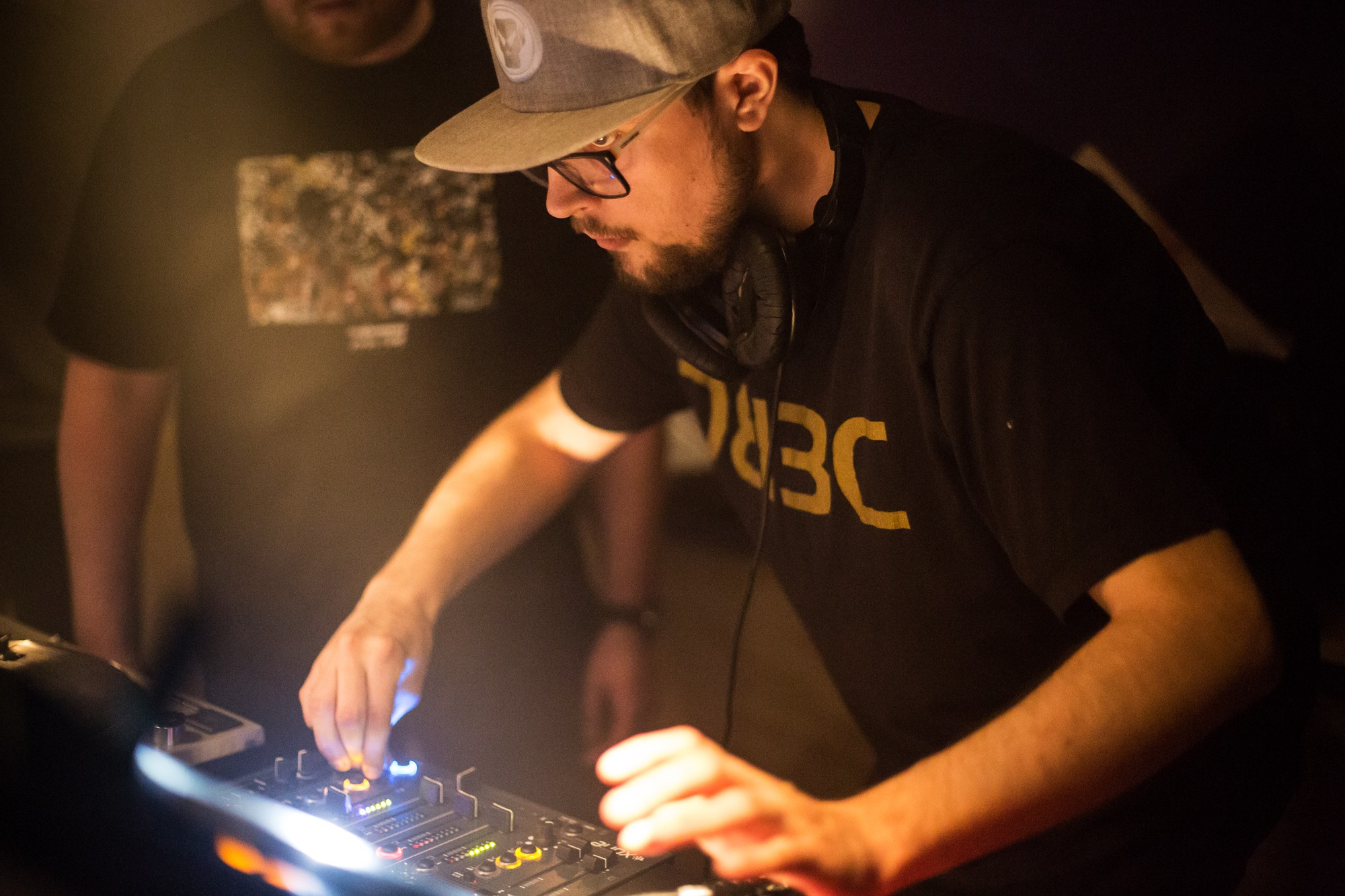 Jnb djing at a nightclub