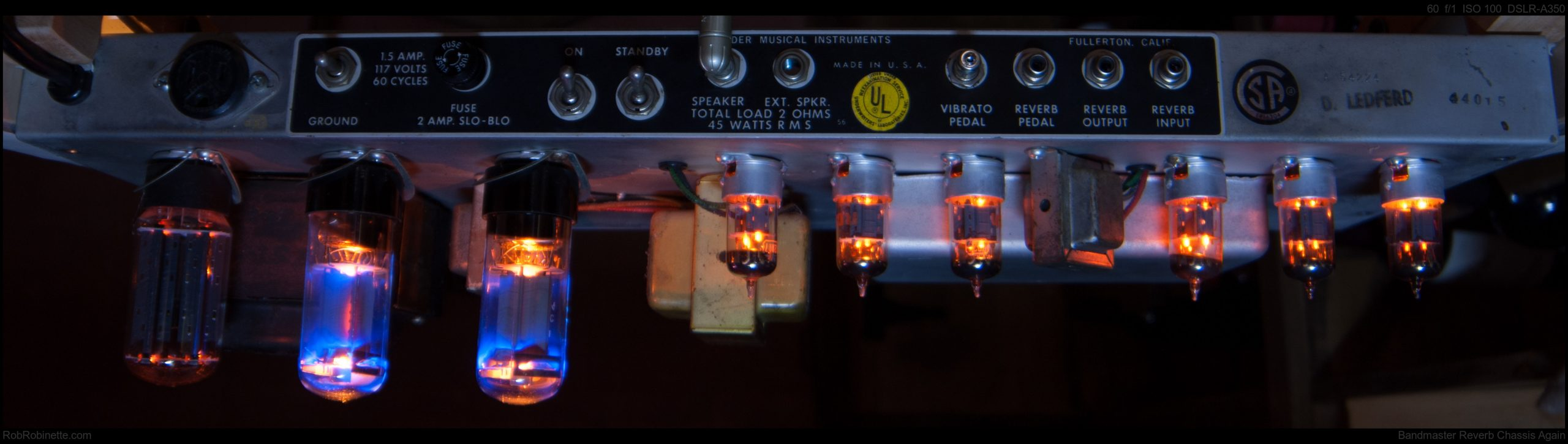 Tube amps in a reverb